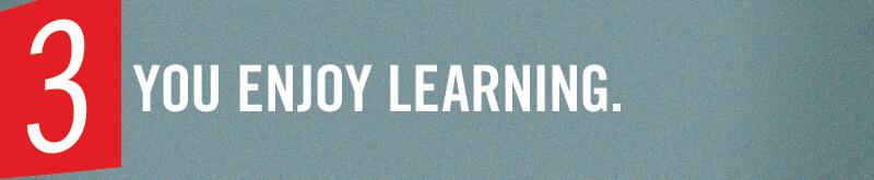 Du lernst gerne.
