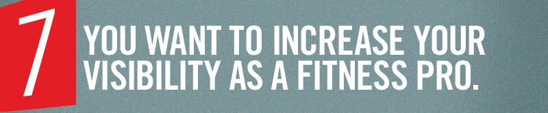 Sie möchten Ihre Sichtbarkeit als Fitnessprofi verbessern.