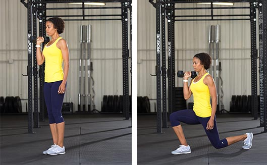 DB Racked Lunge