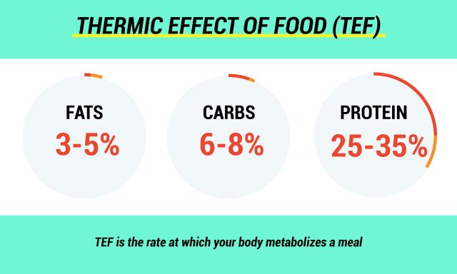 Infografik der verschiedenen thermischen Wirkungen von Lebensmitteln
