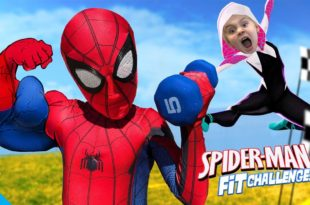 Spider-Man Fitness Challenge!  Superheld Gear Test & Hindernisparcours |  KIDCITY