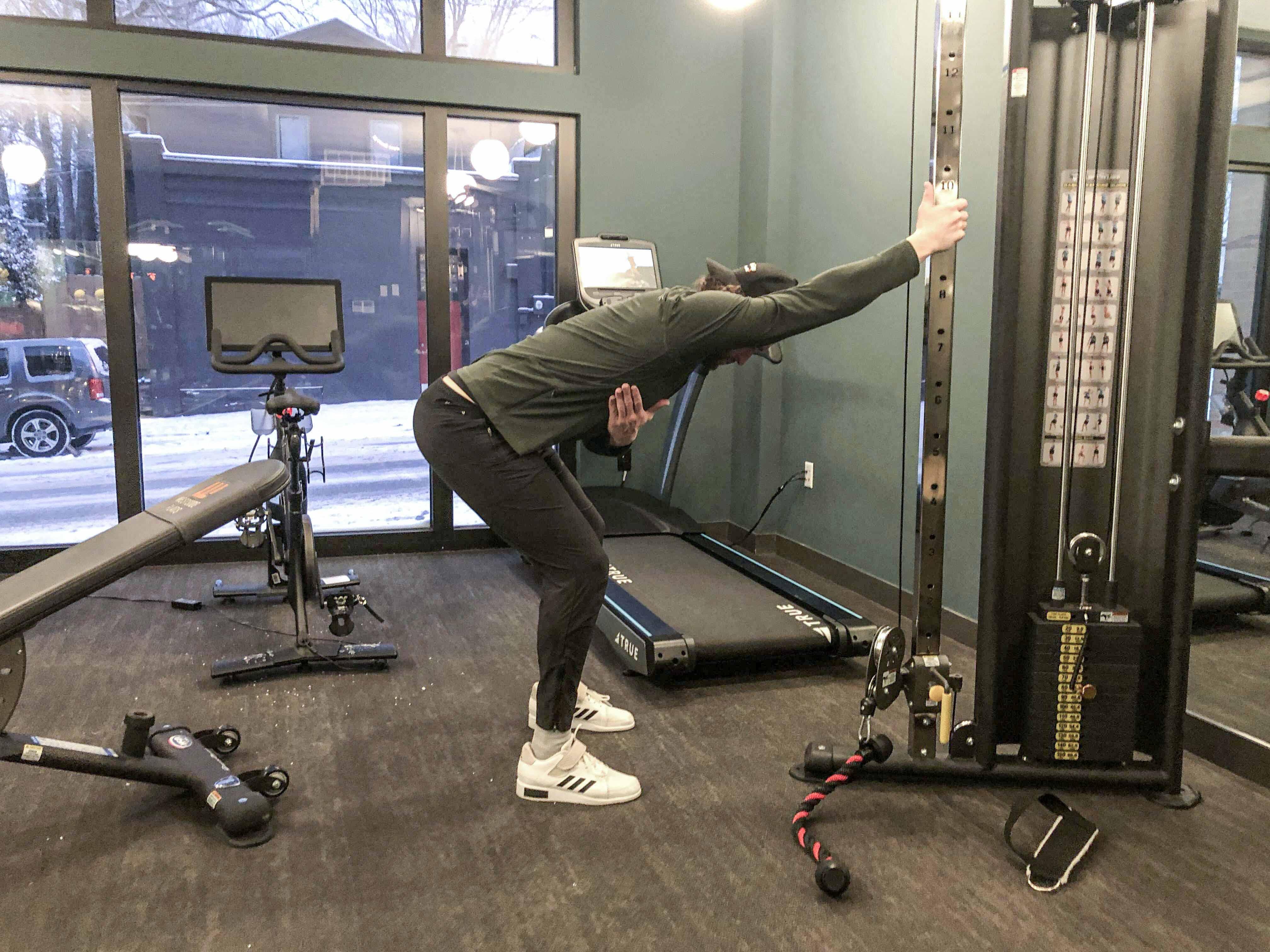 Rack Lat Stretch