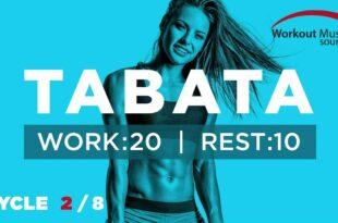 Workout-Musikquelle // TABATA-Zyklus 2/8 mit Vocal Cues (Arbeit: 20 Sekunden   Pause: 10 Sekunden)