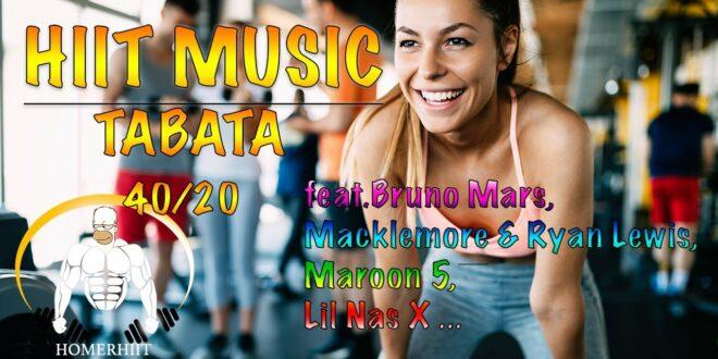 HIIT WORKOUT MUSIC - 40/20 - POP MUSIC - feat.Bruno Mars, Macklemore & Ryan Lewis,Maroon 5,Lil Nas X