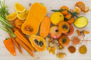 Die Wissenschaft von orangefarbenem Obst und Gemüse